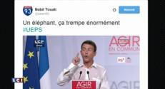 PS : l'état de la chemise de Manuel Valls à La Rochelle inspire Twitter