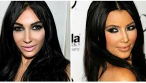 Claire Leeson sosie de Kim Kardashian