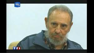 Cuba : Fidel Castro à la télévision