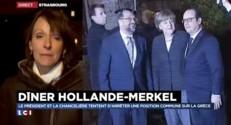 Dîner à Strasbourg entre Hollande et Merkel pour évoquer la Grèce