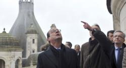 François Hollande en visite à Chambord le 19 décembre 2014