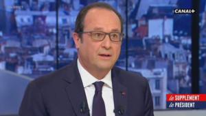 François Hollande, le 19 avril 2015 sur Canal Plus
