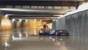 Inondations à Bordeaux (Gironde) le 26 juillet 2013.