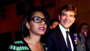 Le couple Arnaud Montebourg et Audrey Pulvar fin 2011