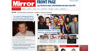Les Unes de la presse britannique du 7 septembre 2012 reviennent largement sur la tuerie de Chevaline mercredi en France.
