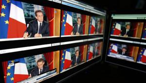 Nicolas Sarkozy lors de son intervention télévisée du 29 janvier 2012
