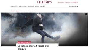 France en crise - Le Temps