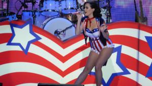 Katy Perry, le 19 janvier 2013, lors d'un concert d'inauguration des festivités en l'honneur de l'investiture de Barack Obama.