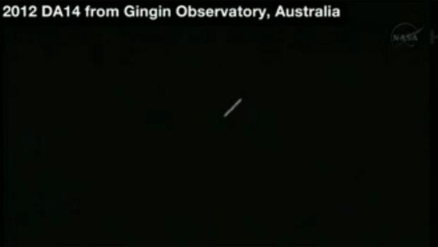 L'astéroïde 2012 DA14 visible depuis l'Australie le 15 février 2013 vers 20h30 (heure de Paris)