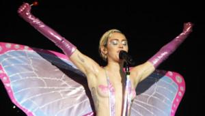 Miley Cyrus lors d'un concert à l'Adult Swim Upfront Party le 14 mai 2015