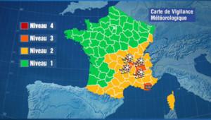 Carte de vigilance de Météo France (29 novembre 2012)