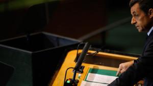 Nicolas Sarkozy à la tribune de l'Onu, à New York, le 21 septembre 2011