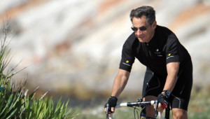 Nicolas Sarkozy vélo