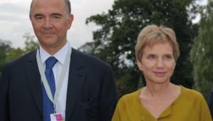 Pierre Moscovici et Laurence Parisot.