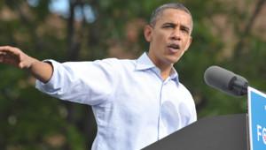 Barack Obama en meeting à Boulder, dans le Colorado, le 2/9/12
