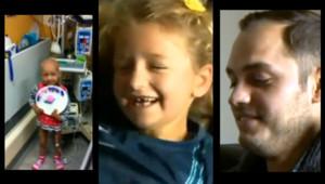 """Un don de moelle osseuse l'a sauvée : à 7 ans, elle rencontre son """"jumeau génétique"""""""
