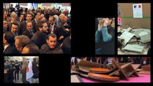 Accueil mouvementé pour Hollande au Salon de l'Agriculture le 27 février 2016