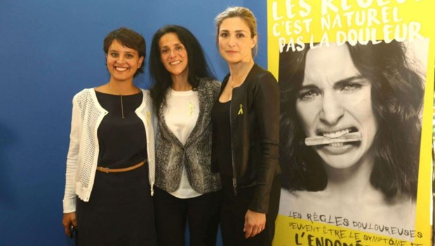 Julie Gayet Najat Vallaud-Belkacem endométriose