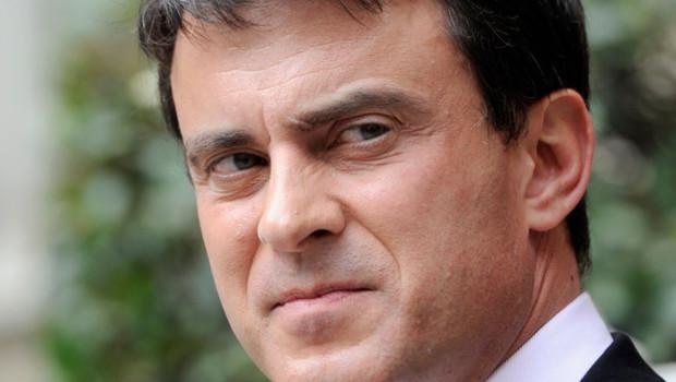 Le ministre de l'Intérieur Manuel Valls, place Beauvau, 31 juillet 2012