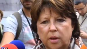 Martine Aubry suite au barrage FN