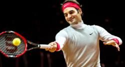Roger Federer à l'entraînement avant la finale de la Coupe Davis 2014, 19/11/14