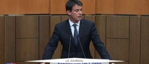 Devant l'Assemblée de Corse, Valls rend un hommage à Michel Rocard