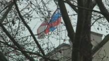 Drapeau russe hissé sur le Parlement de Crimée, 27/2/14