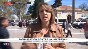 Loi du travail à Montpellier : des casseurs parmi les manifestants