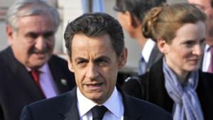 Nicolas Sarkozy avec Jean-Pierre Raffarin et Nathalie Kosciousko-Morizet.