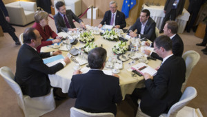 François Hollande, Angela Merkel et Alexis Tsipras