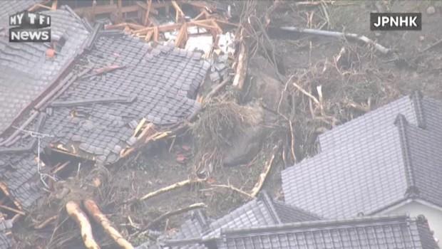 Japon : de fortes précipitations entrainent et la mort de quatre personnes et deux disparitions