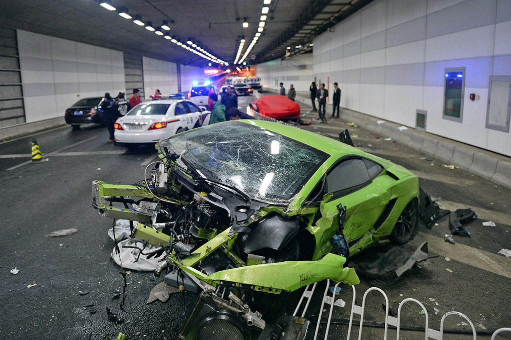 Les Paul Car Accident