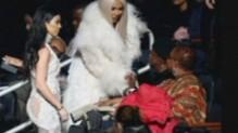 Kim Kardashian au défilé de Kanye West