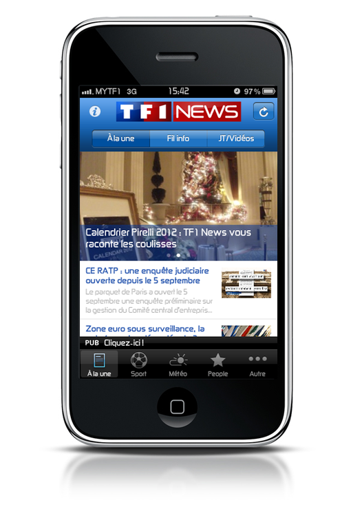 TF1News sur iPhone