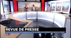 Nathalie Arthaud, porte-parole de Lutte-Ouvrière, fait sa revue de presse