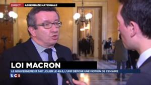 """Usage du 49-3 sur la loi Macron : """"C'est un vieil outil rouillé de la Ve République"""""""