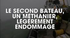 Collision en mer du Nord : un cargo sombre, des nappes d'hydrocarbures dérivent
