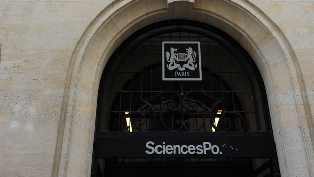 L'entrée de Sciences Po à Paris