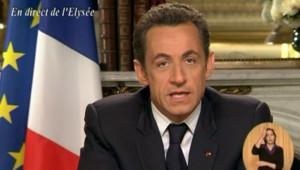 Nicolas Sarkozy voeux 2008
