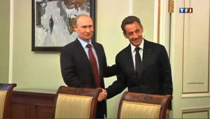 """Sarkozy à Moscou : la Russie """"partenaire naturel de l'Europe"""""""