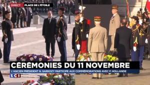 11-Novembre : François Hollande devant la tombe du soldat inconnu