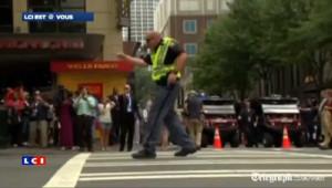 Elections USA 2012 : un policier danseur pour faire circuler les démocrates