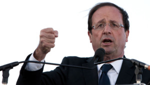 François Hollande à Boulogne-sur-mer, le 27 mars 2012.