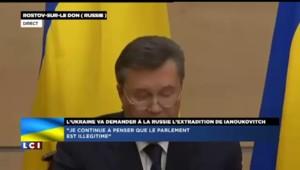 """Ianoukovitch : """"Je voudrais présenter mes excuses au peuple ukrainien"""""""
