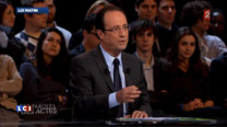 Le candidat PS  la prsidentielle a annonc jeudi soir sur France 2 qu'il y aurait un dbat au Parlement chaque anne pour fixer le volume de l'immigration conomique.