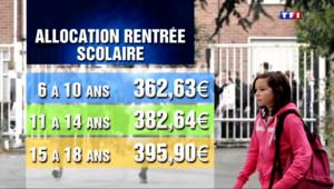 Le 13 heures du 19 août 2014 : L'allocation de rentr�scolaire vers�� millions de familles - 305.758