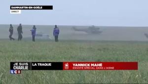 Prise d'otages à Dammartin-en-Goële : les cinq hélicoptères posés dans un champ