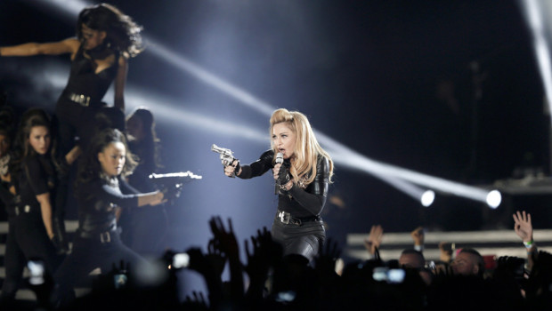 Madonna en concert au Stade de France, le 14 juillet 2012