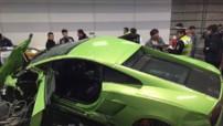 Accident Chine Tunnel Lamborghini Ferrari 2015