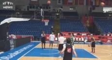 Avant la finale de l'Euro de basket, Céline Dumerc enchaîne les tirs à trois points